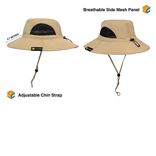 a30cbfb8 SUN CUBE Premium Boonie Hat with Wide Brim, Adjustable Chin - Import It All