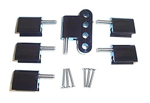 Taylor Cable 42705 Black Vertical Mounting Bracket for Clamp Style Wire Separators (Ignition Wire Separator)