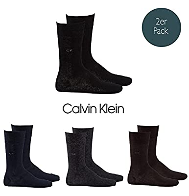 Calvin Klein 2-Pack Cotton Rich Men's Socks, Black