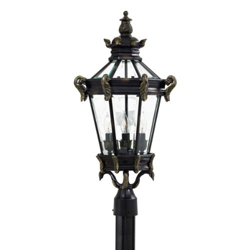 Minka Lavery 8936-95 4-Light Outdoor Post Mount, Heritage with Gold Highlights Finish ()