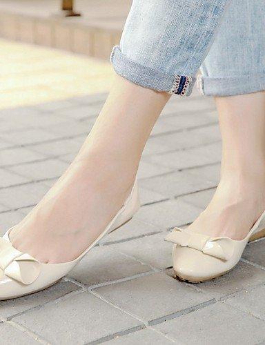 uk4 7 Beige redonda de zapatos cn37 PDX red rojo 5 de Casual punta 5 5 Flats eu37 us6 plano mujer talón 10Z1Tqwx4n