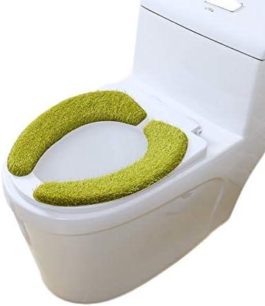 CQIANG ユニバーサルぬいぐるみパッド入り便座カバー吸水性ペースト便座便座便座便座低反発便座 (Color : Grass green)