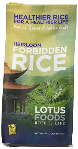 - Lotus Foods Heirloom Forbidden Rice, 15-Ounce (Pack of 6)