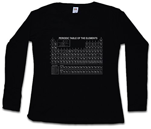 PERIODIC TABLE OF THE ELEMENTS II DAMEN GIRLIE LANGARM T-SHIRT - Breaking Periodensystem Bad TV Größen XS – 2XL