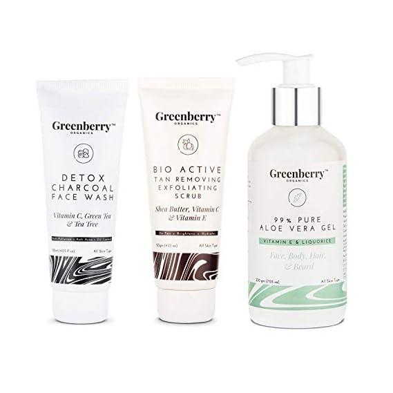 Greenberry Organics Detox Charcoal Face Wash with Vitamin C, Green Tea & Tea Tree for Anti-pollution, Anti- Acne & Oil