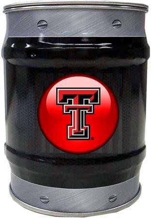 Texas Tech Red Raiders NCAA Basketball Black And Grey Bolt Design Tin (Raiders Ncaa Basketball)