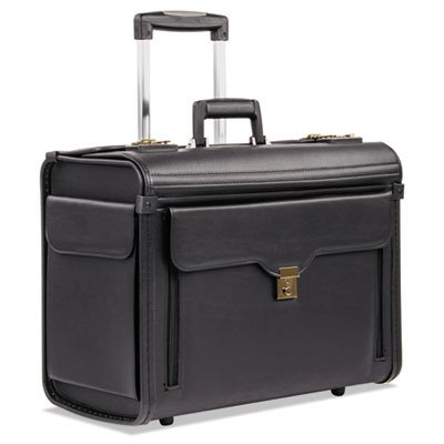 Bond Street, Ltd. 456110BLK Rolling Computer/Catalog Case, Koskin, 19 x 9 x 15-1/2 Inches, Black