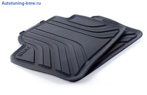 NEW OEM BMW 4-Series All-Weather Rear Floor Mats, Basic Line (Floor Mats Rear Black Bmw)