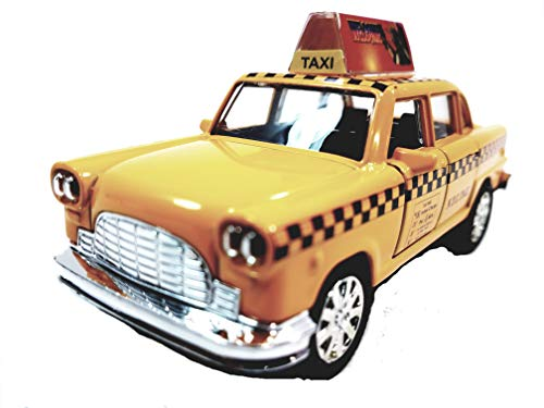 Taxi Diecast Car - SF Toys Classic New York City 1963 Checker Yellow NYC Taxi Cab 1/43 O Scale Diecast Commercial Car