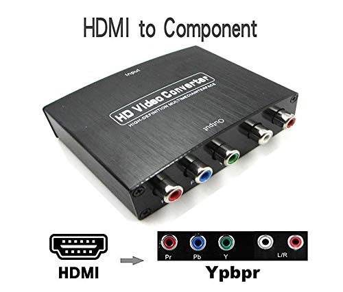 JBingGG 4K HDMI to Component 5RCA YPbPr RGB + R/L Converter V1.4 with R/L Audio Output Support MacBook/Nintendo Switch/PS4 Pro/Amazon Fire TV ()