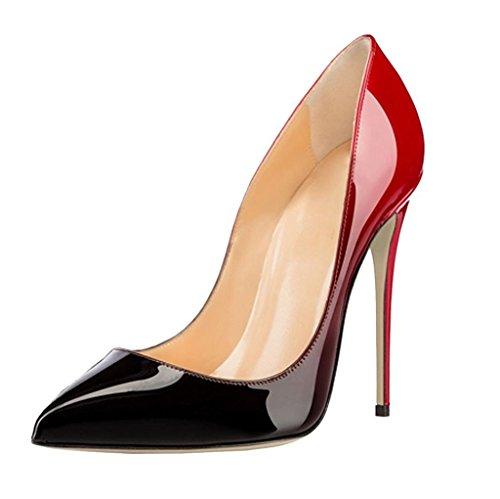 Heels Gradients Hoch Zehe Damen High Spitze Pumps Elegant EDEFS Absatz Schuhe qHvw5S8H