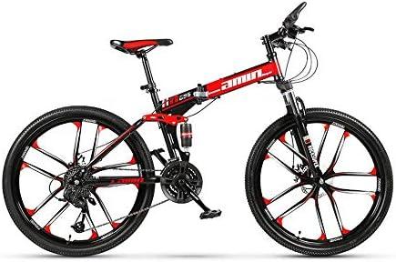 Erwachsene Wei/ß Domdil faltbares Mountainbike f/ür M/änner und Frauen Mountainbike mit 24 Geschwindigkeitsstufen