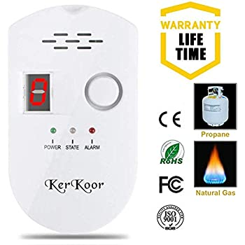 KerKoor Gas Leak Detector-1 Natural Gas Alarm Detector For Home Gas Tester Propane Smart Gas Detector Electronic Sniffer Pen Plug-In Gas Detector For Gas ...