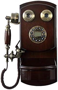 Yuanyuanliu Antiguo Teléfono De Pared De Madera, Rotativo, Vintage, Retro, con Cable, Teléfono Inalámbrico, Teléfono Fijo, Teléfono Fijo (Color : Screen Version): Amazon.es: Hogar