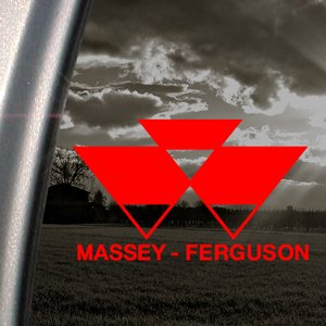 Massey Ferguson Red Decal Car Truck Bumper Window Red Sticker - Car window stickers amazon uk