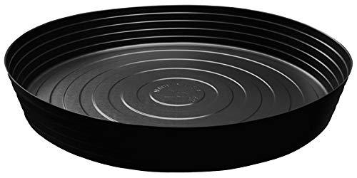 (Curtis Wagner Plastics Plant Tray Drip Pan Saucers (5-pack) - Black, Round (Diameter = 25