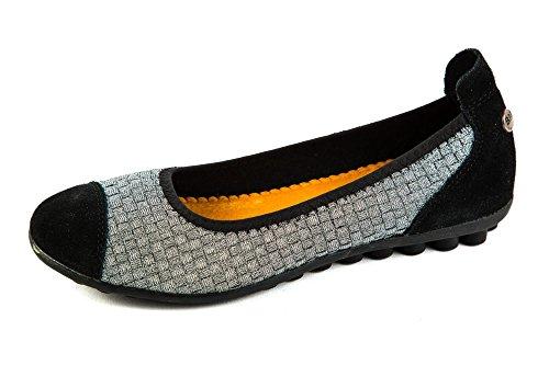 Bernie Mev Womens Ballerina Shoes Silver Silber MjnSuV8v