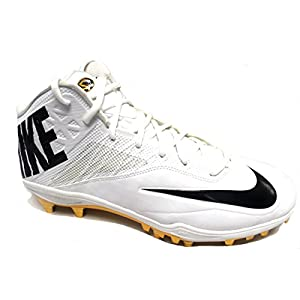 NIKE Men's Special Promo Zoom Code Elite 3/4 TD Football Cleats (15, White/Black-Metallic Gold)