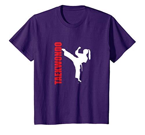 Kids Best Price Taekwondo Girl Karate Martial Arts TShirt 8 Purple (Girl Martial Arts Karate T-shirt)