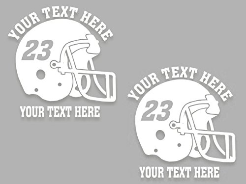 Custom football helmet personalized vinyl decal 6