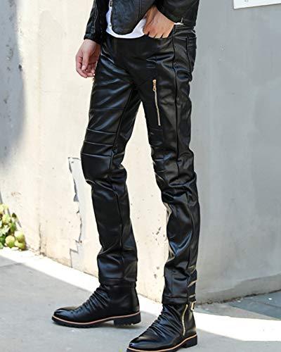 Moto Pantalons En Noir Pour Biker Cuir Hop Fitness Rock Homme Steampunk Hip v6rAUqSnvw