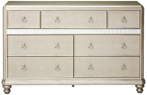 home, kitchen, furniture, bedroom furniture,  dressers 4 picture Bling Game 7-Drawer Dresser with Stacked Bun deals