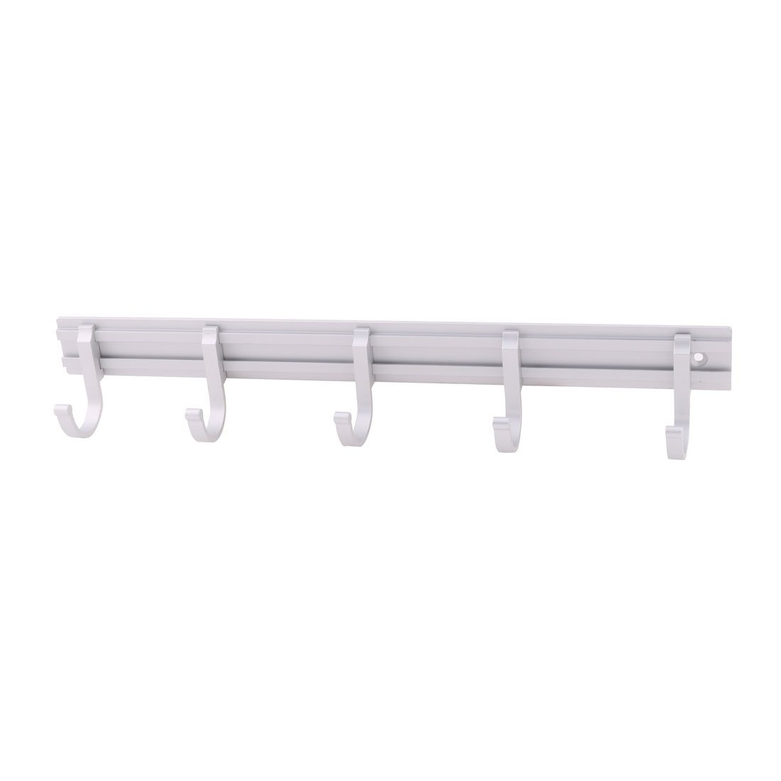 uxcell Aluminum Alloy Hotel Kitchen Cafe Wall Mounted Clothes Jeans Holder Hooks Silver Tone