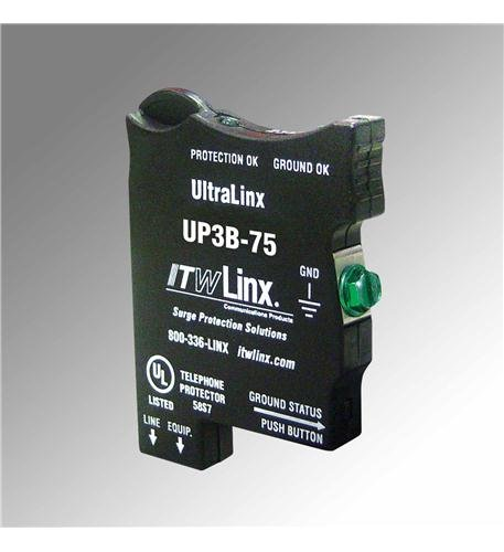 UltraLinx 66 Block/7.5V Clamp/350mA Fuse-ITW Linx Ultralinx PBX/KSU protection- 66 Block- Solid-state- UL Listed Primary and Secondary Protector- 350mA Sneak current fuse- 75VClamping- 2 LEDs to indicate Protection and Ground OK- Designed for Panasonic di