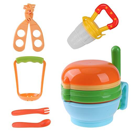 (12pcs/Set Baby Food Grinding Bowl Supplement Scissors Spoon Fruit Processor)
