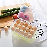 Fablcrew. Caja de Huevos de plástico para Nevera con Tapa, Soporte ...