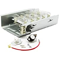 8565582 - Heavy Duty Clothes Dryer Replacement Heating Element for Whirlpool Kenmore Maytag Roper KitchenAid Estate Sears Magic Chef Amana Admiral (*** Includes 279816 Thermostat kit***)