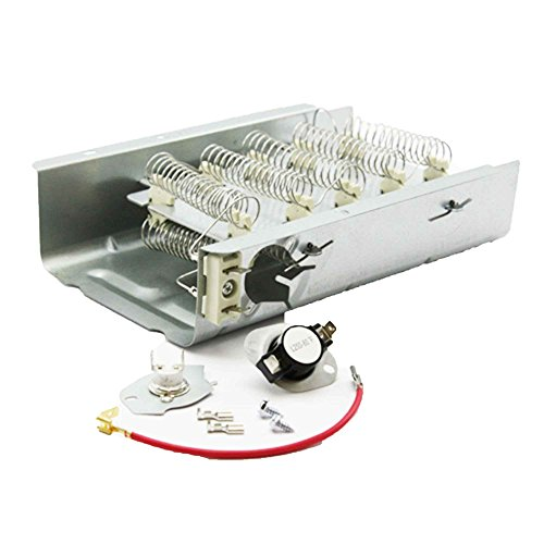 yer Heating Element and Thermostat Combo Pack for Whirlpool Kenmore Electric Dryers (Install New Thermostat)