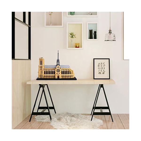 YaJie Big Architecture Notre Dame De Paris Micro Block 7380 Pieces Model Building Kit, Creative Building Set for Adults…