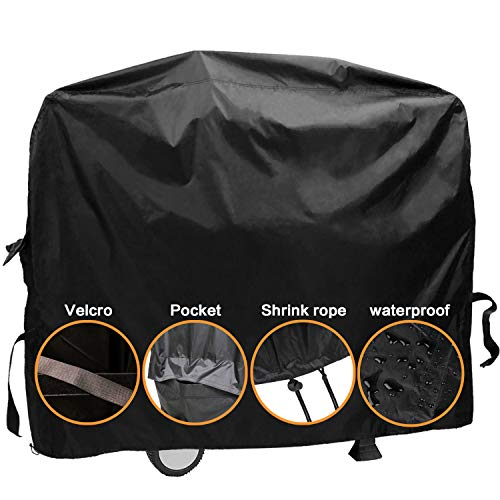 "Dekugaa Grill Cover,(58"" Black) BBQ Special Grill Cover,Waterproof and UV Resistant Material, Durable and Convenient,Fits Grills of Weber Char-Broil Nexgrill Brinkmann and More (L)"