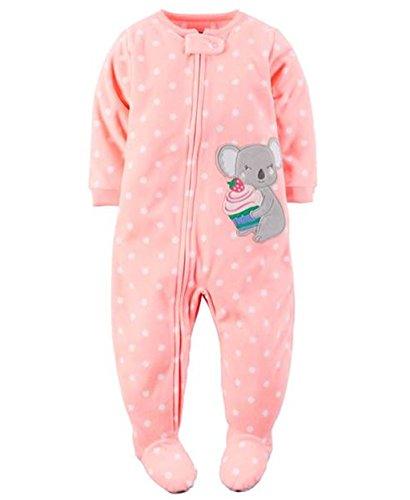 Carter's Girl's 5T Polka Dot Cupcake Koala Fleece Footed Pajama Sleeper