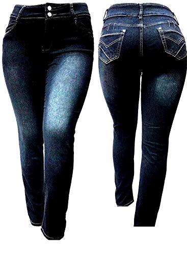 IVE BLACK WOMEN'S PLUS SIZE Stretch HIGH WAIST denim jeans PANTS SKINNY LEG (18)