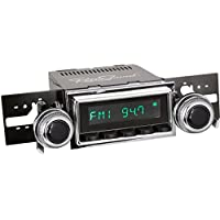 RetroSound M2B-127-53-73 Model Two Direct-Fit Radio for Classic Vehicles (Black Face/Buttons and Chrome Bezel)