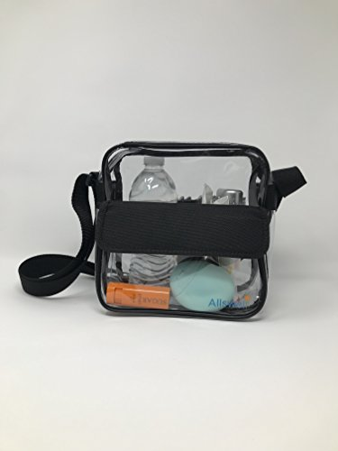 Allswell Clear Stadium Cross Body bag for any sporting event- Approved 10''x10''x3.5'' size for NCAA or any other stadium- Professional Grade Quality Guaranteed See Through Bag by Allswell (Image #2)