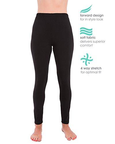 (Homma Premium Ultra Soft High Rise Waist Full Length Regular and Plus Size Leggings (3XL/4XL, Black))