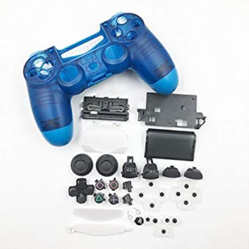 JDM-040 - Carcasa de Repuesto para Mando Playstation 4 Pro PS4 Pro, Color Azul y Blanco Clear Blue with Button: Amazon.es: Electrónica