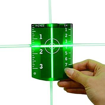 VIDOO Placa De La Tarjeta De Destino del L/áser Verde Rojo para El Rojo Verde Laser Nivel-Rojo