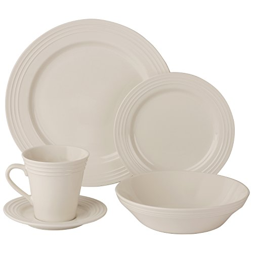 10 Strawberry Street Atlas 20 Piece Dinnerware Set - Cream