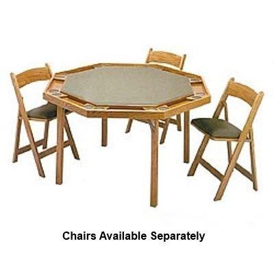 Charmant Kestell 52u0026quot; Oak Contemporary Folding Leg Poker Table