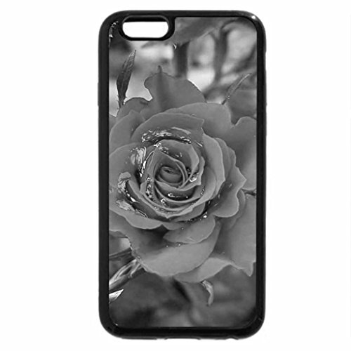 iPhone 6S Case, iPhone 6 Case (Black & White) - rose for Mother's Day