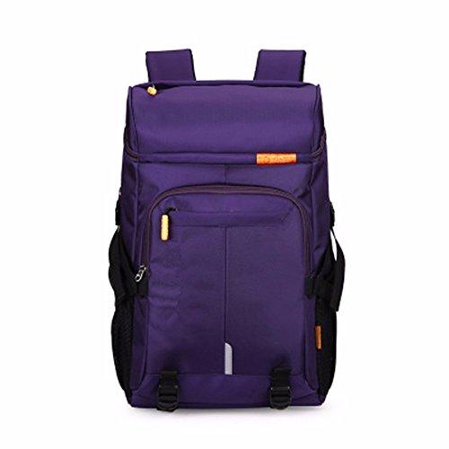 LMDSG High-Capacity-Freizeit-Reisen Bergsteigen Gepäck Rucksack Männer Frauen Wandern Reiten Rucksack purple