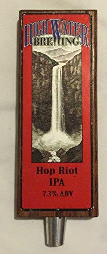 High Water Brewing Wood Hop Riot IPA beer tap handle
