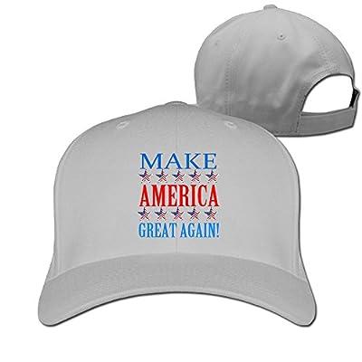 Unisex Make America Great Again Adjustable Snapback Baseball Hat Ash One Size
