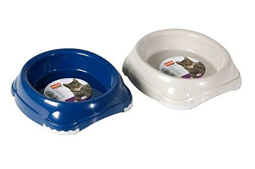 Karlie Rutschfester Napf Futternapf Fressnapf Classic für Katze oder Hund, 210 ml, 11 x 9.5 x 4 cm, Farblich Sortiert