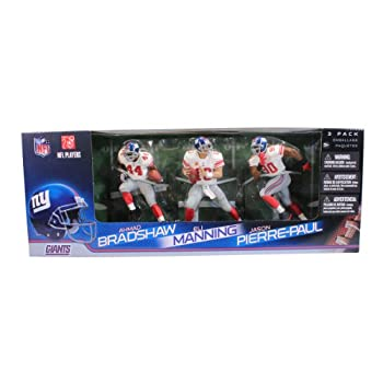 Image of McFarlane Toys NFL New York Giants 3 Pack - Eli Manning, Jason Pierre-Paul and Ahmad Bradshaw Action Figures