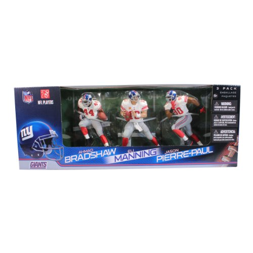 McFarlane Toys NFL New York Giants 3 Pack  - Eli Manning, Jason Pierre-Paul and Ahmad Bradshaw Action Figures by McFarlane